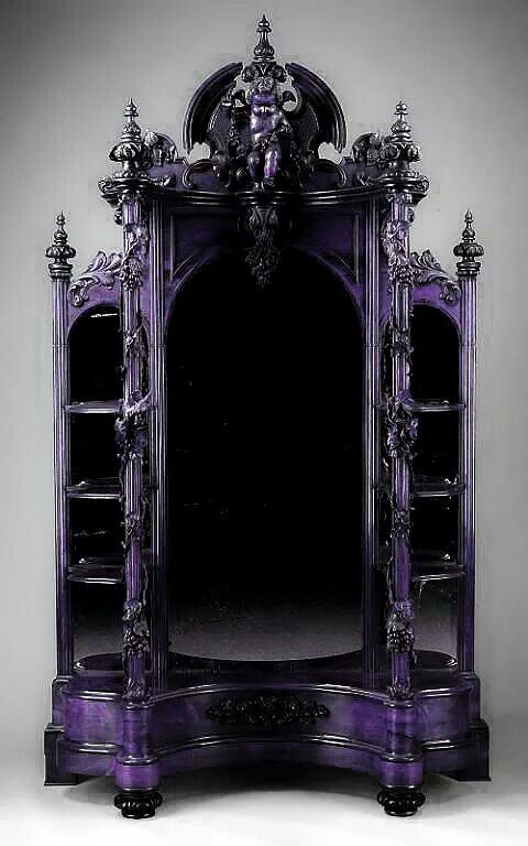 Gothic Display Cabinet Goth Home Decor Gothic Furniture