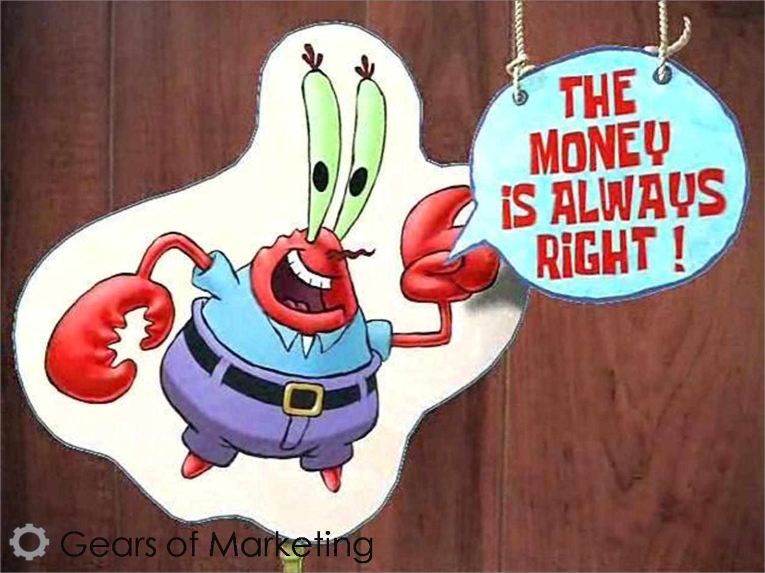 Don cangrejo ¨el dinero siempre tiene la razón¨