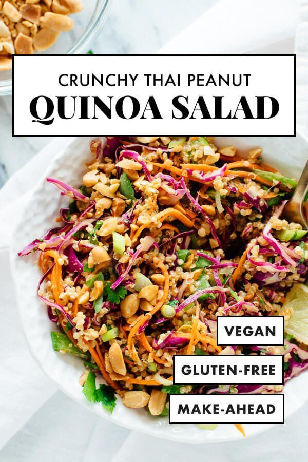 Crunchy Thai Peanut & Quinoa Salad - Cookie and Kate