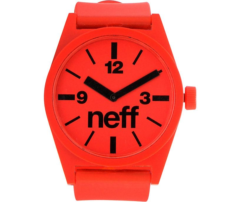 Neff daily red analog watch.