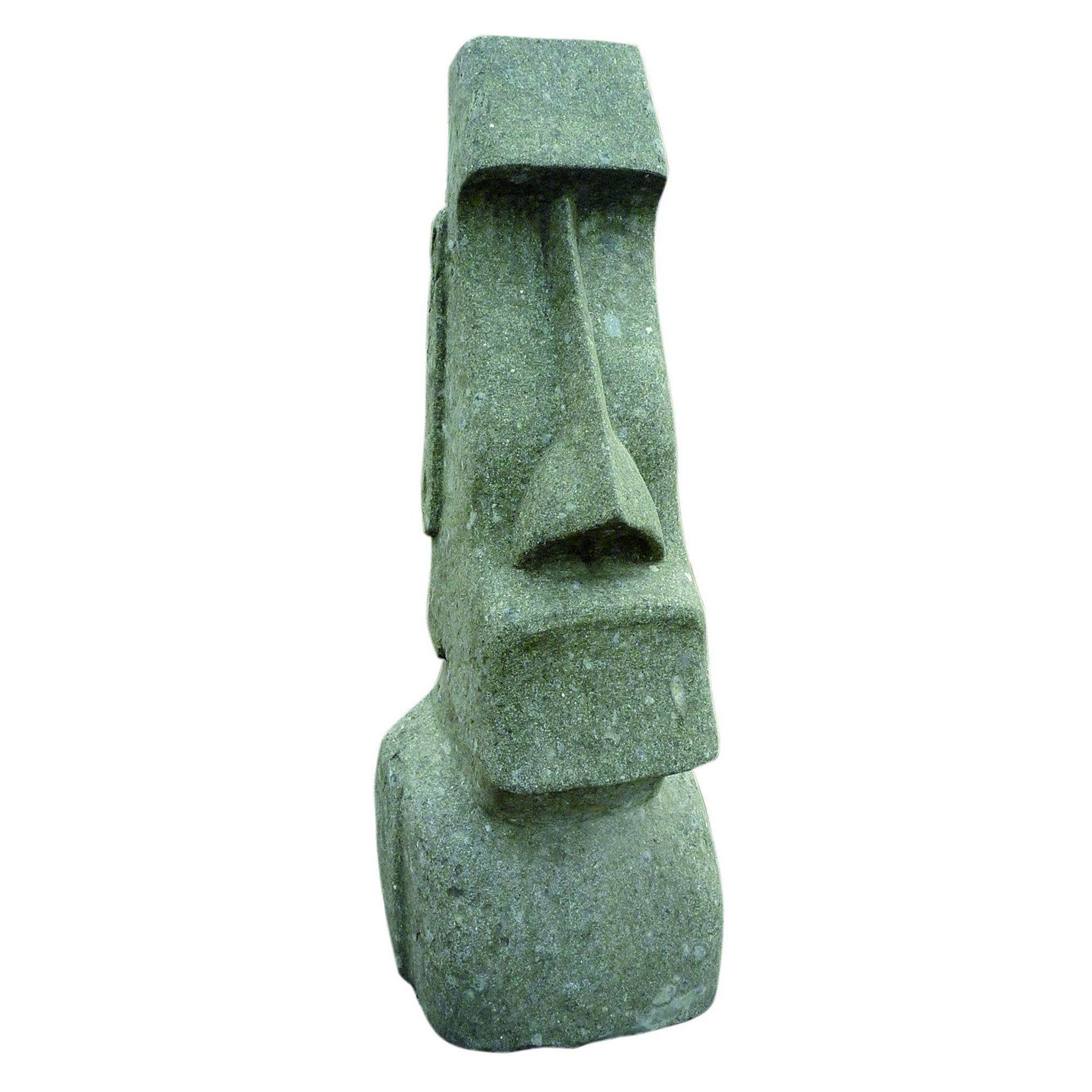 Decoration De Jardin Statue Moai Taillee Dans Basanite Naturelle