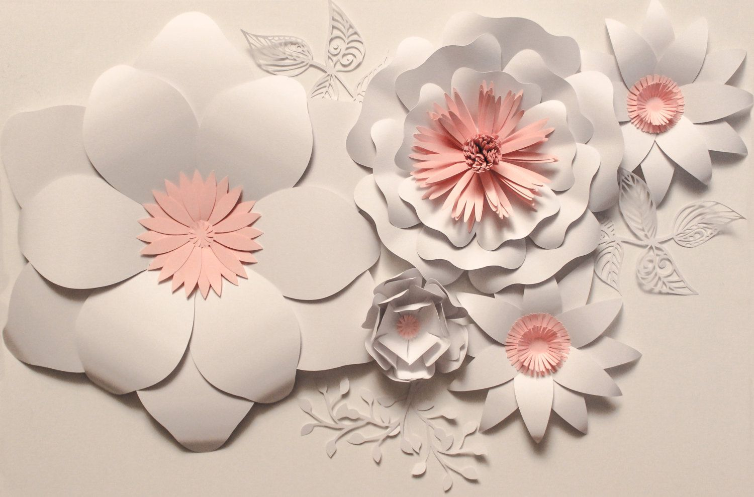 Paper Flower Backdrop Ready To Ship Giant Paper Flowers Wedding