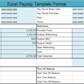 Excel Payslip Template Format  Excel Templates
