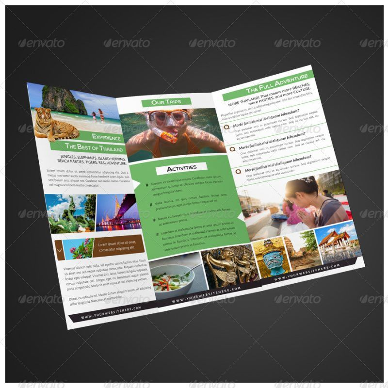 Brosur Tour Dan Travel  Brochure  Pamphlet Designs