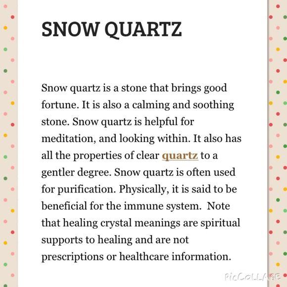 Gemstone Meaning Snow Quartz Snow Quartz Energy Crystals Gemstone Meanings