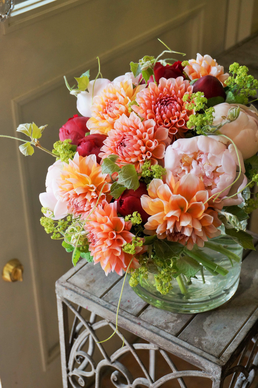 Dahlia And Peony Flower Arrangements Pinterest Dahlia Peony
