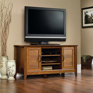 "Sauder Milled Cherry Panel TV Stand for TVs up to 47""; $99.96. Walmart"
