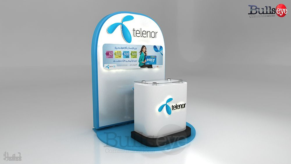 Telenor Easy Card Booth Simple Cards Cards Booth
