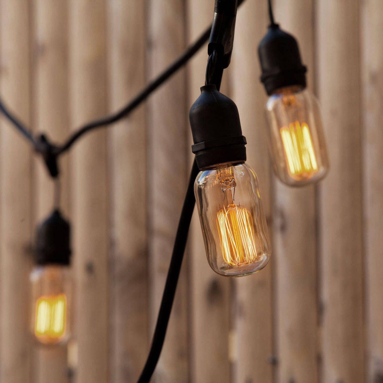 Williamsburg T14 Heavy Duty 10-Socket Vintage Stringer Outdoor string lighting, Indoor outdoor ...