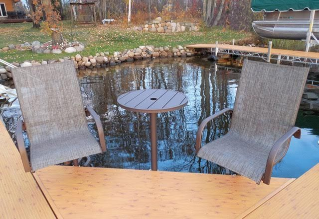 Dock Accessories New FLOE Product: Aluminum Powder Coated Swivel/Rocking  Chairs, Tables And