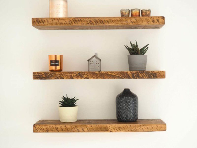 1 For Rustic Shelves Premium Chunky Rustic Wooden Floating Shelf Floating Shelves Wood Floating Shelves Rustic Wood Floating Shelves