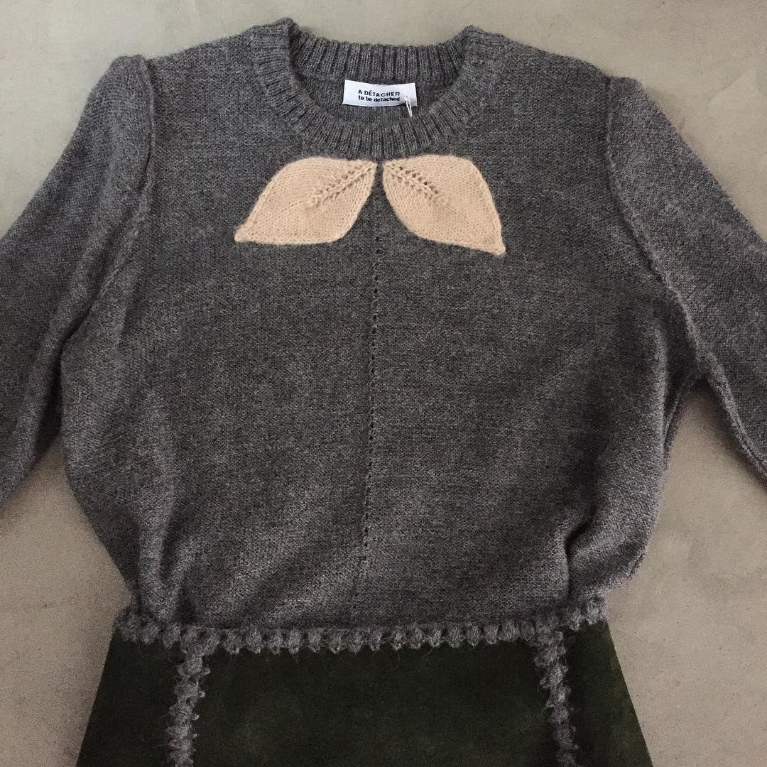 "adetacher: ""Corelia alpaca pullover and Galicia suede skirt."""