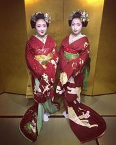 @kaz_pfm on Instagram: 小晶さんと君咲さん 昨年の12月末  Kimisaki retired a maiko at the end of last year. I wish for her happiness. . . #京都#宮川町#舞妓#着物#花簪#まねき #花傳#小晶 #本城#君咲