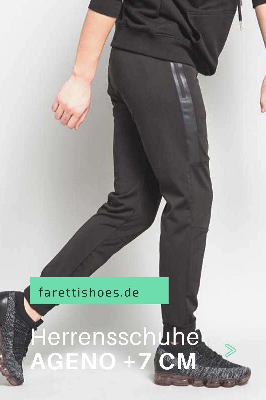 Herren Sportschuhe Gunstig Online Kaufen Bei Farettishoes Die Schuhe Die Grosser Machen Ageno In Schwarz Und Grau Eignen Sich Sowohl F In 2020 Schuhe Sport