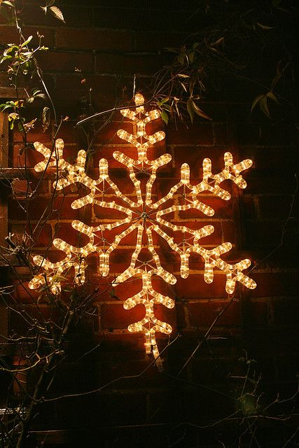 Lighted snowflake Home for the holidays Pinterest