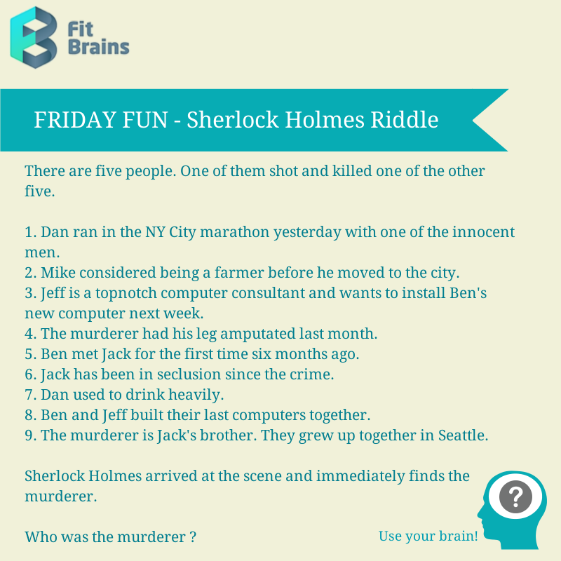 Brain Teaser Puzzle Riddle Brain teasers, Riddles, Brain