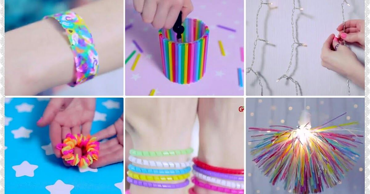 10 Diy Projects With Drinking Straws Diy Straw Crafts Straw