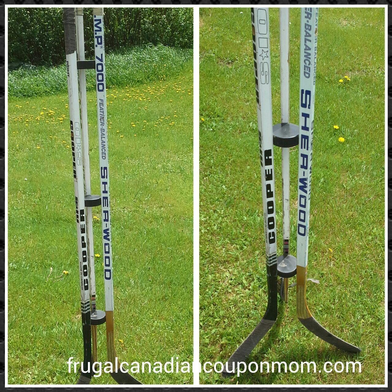 Hockey Stick Coat Racks: Do It Yourself Recycled Hockey Stick Coat Rack My Brother