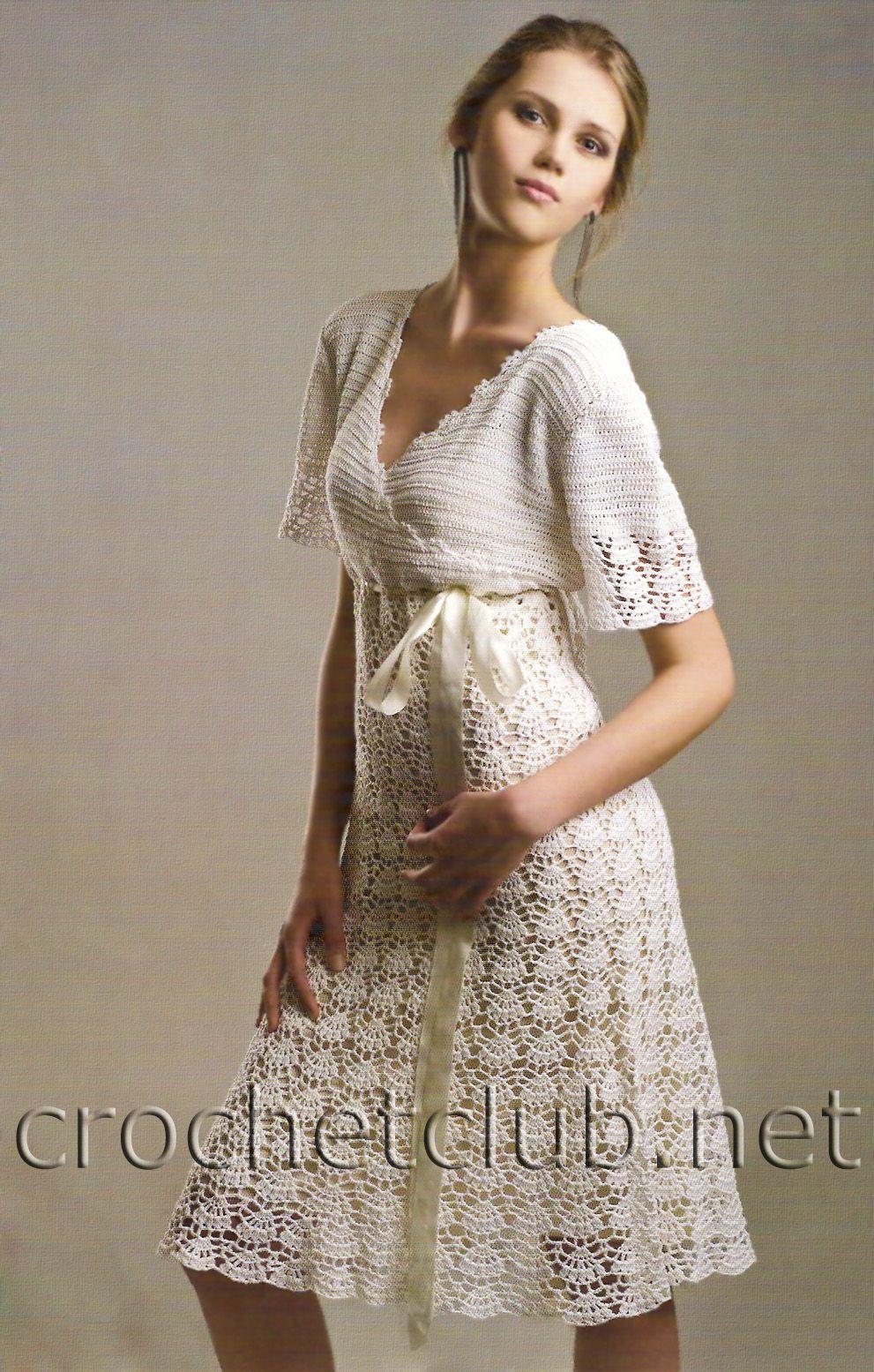 Crochet white dress | Knit and Crochet | Pinterest | Crochet ...