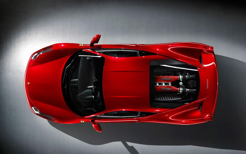 Ferrari 458 Italia Top View Desktop Wallpaper | Ferrari Wallpapers ...