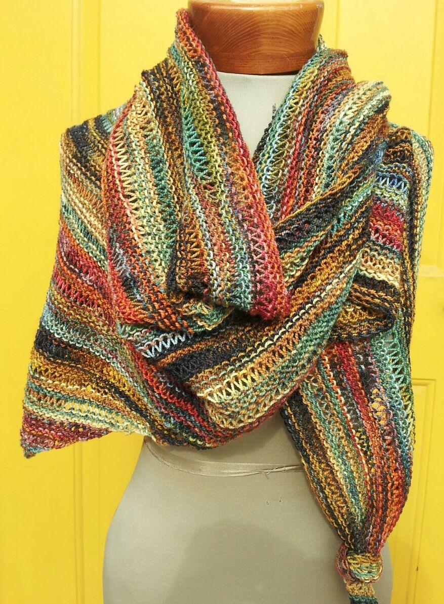 All Colors Work Shawl By Diane Piwko / Fiber Circle Yarn ...
