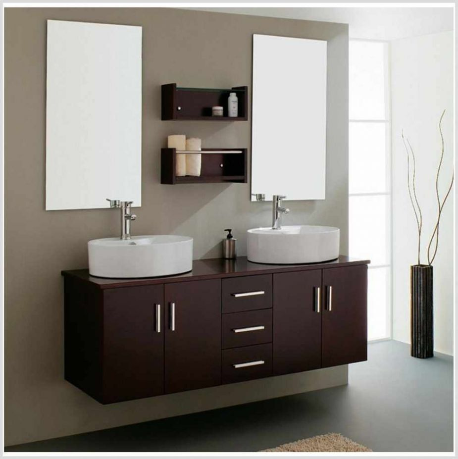Furniture Bathroom. Best Inspiring Bathroom Storage Furnishings Mirror Cabinet Designs. Modern Brown Wood Vanity Cabinet Ideas With White Oval Shaped Vessel Sinks And Chromed Mount Sink Faucets Plus Rectangle Wall Mirrors Together With Wall Mounted Brown Wood Storage Shelves. Appealing Bathroom Mirror Cabinets Design Inspirations
