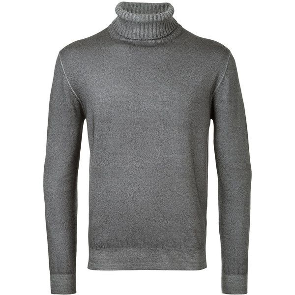 Cruciani turtleneck jumper (515 CAD) ❤ liked on Polyvore featuring men's fashion, men's clothing, men's sweaters, grey, mens grey sweater, mens turtleneck sweater, mens woolen sweaters, mens gray turtleneck sweater and mens wool turtleneck sweater
