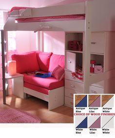 S Loft Bed With Desk Stompa Casa 6 Kids High Sleeper Bunk Sofa
