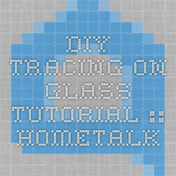 DIY - Tracing On Glass -Tutorial :: Hometalk