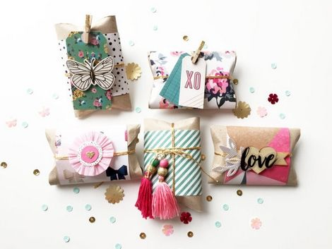"Hello everyone! For this week ""Tips and Tricks"", I wanted to share a fun idea for making small gift boxes,simply and quickly. These pretty boxes are perfect to slide in fancy jewelry, candy or goodies. A gift is always nice..."