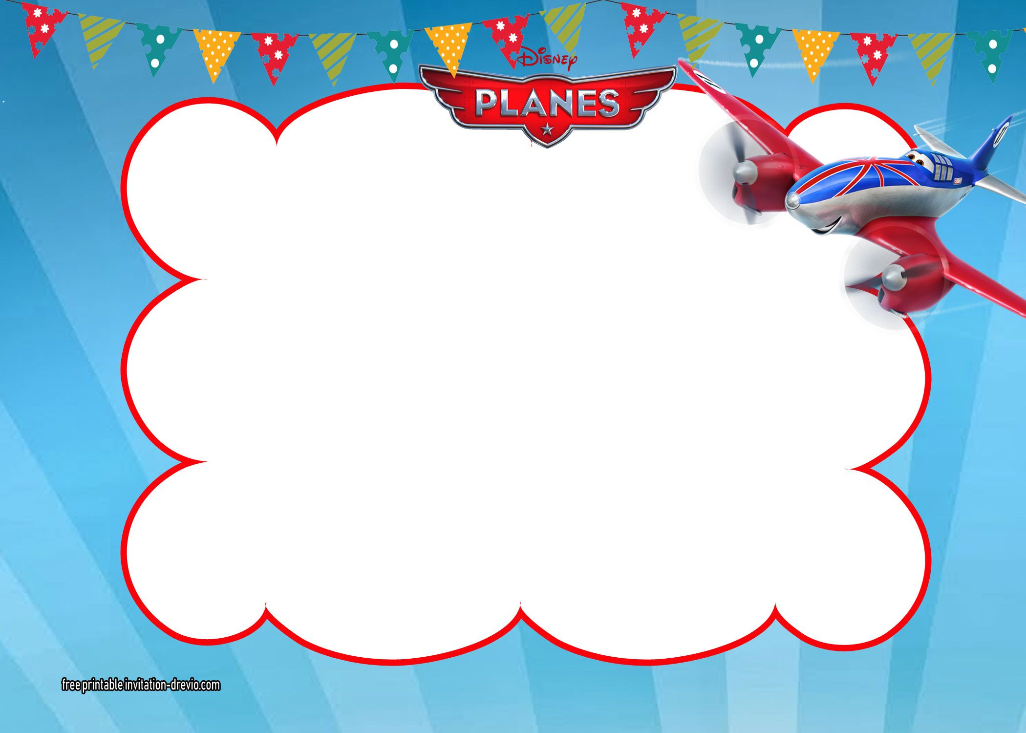 Disney Planes Invitations Templates  DREVIO  Disney planes