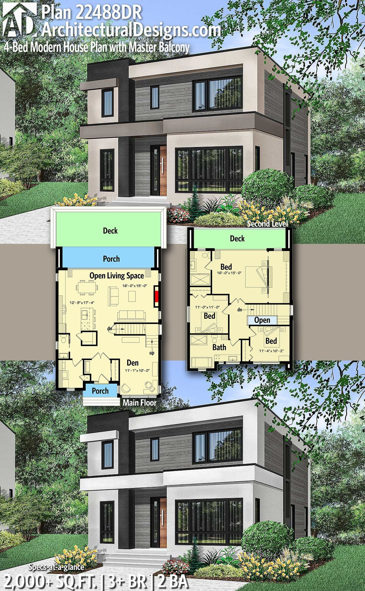 15 Genius Ideas How To Upgrade 3 Bedroom Modern House Design In 2020 Modern House Plans Architecture House Modern House Plan