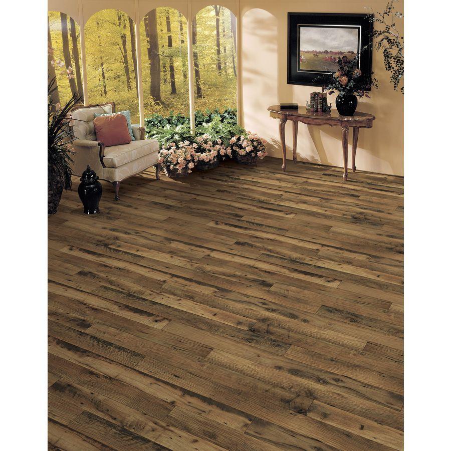 Shop allen + roth 4.96-in W x 4.23-ft L Rustic Mill Oak. Laminate  FlooringFlooring IdeasAllen RothStain ColorsWood ... - Floor Coming Along. Lowe's Allen + Roth Driftwood Oak Laminate In