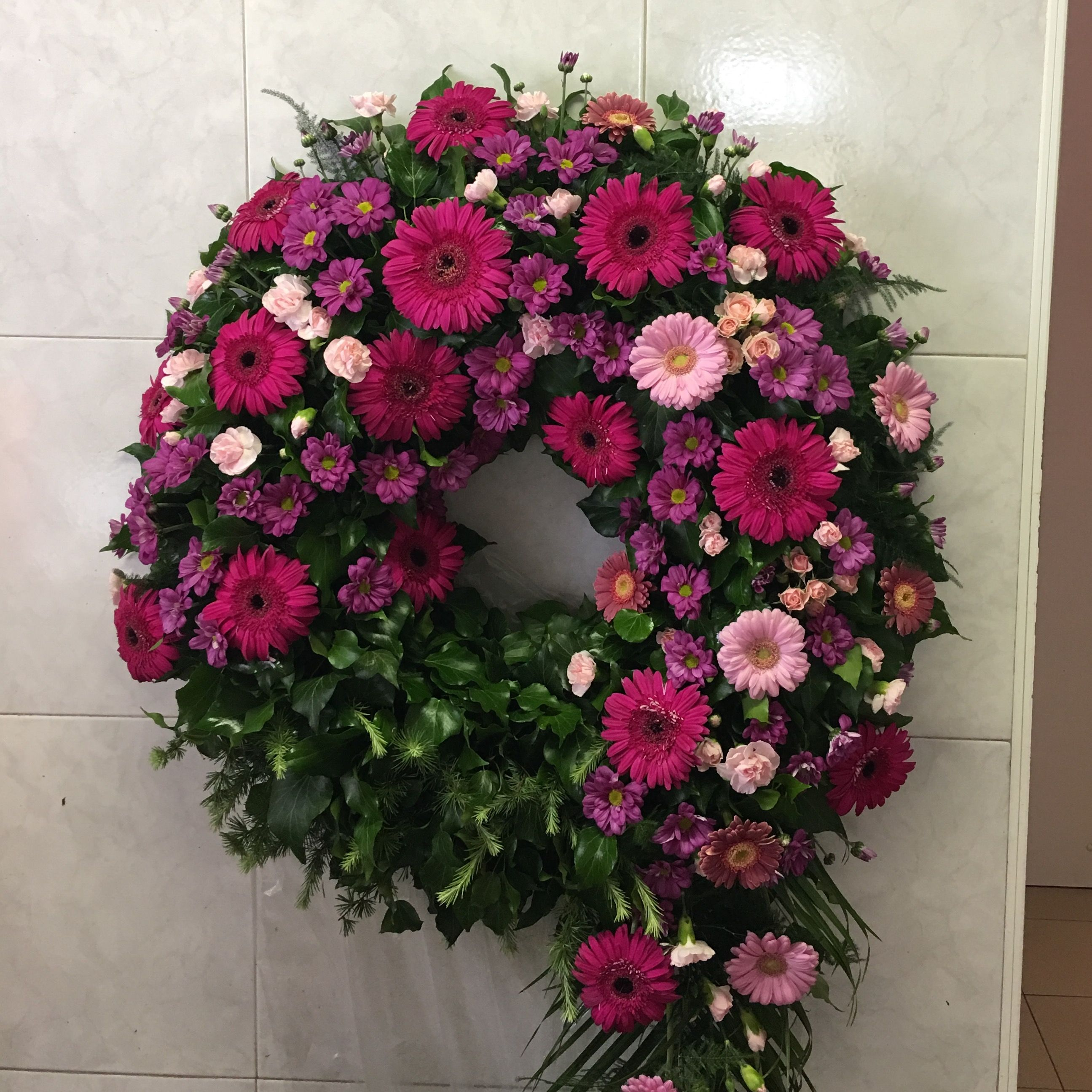 Wreath Funeral Flowers Pinterest Wreaths