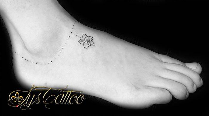 Favorit Tatouage pied cheville femme, bracelet tour de cheville, fleur de  FX79