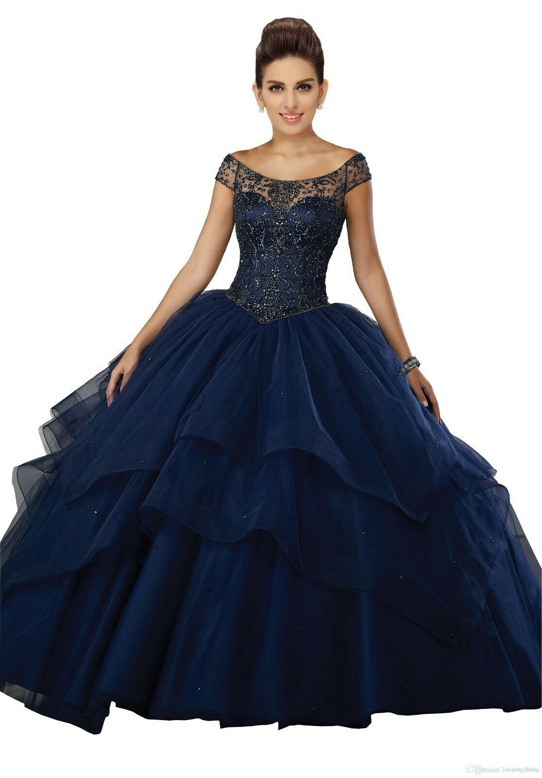 Luxury Sweetheart Quinceanera Dresses For 15 Party Prom Gowns Plus Size