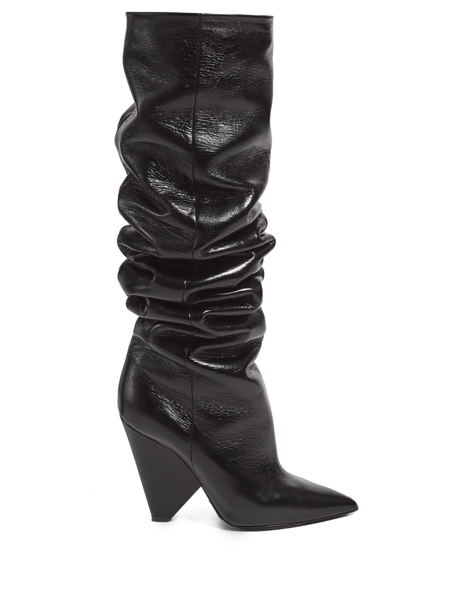 Click here to buy Saint Laurent Niki slouch leather boots at  MATCHESFASHION.COM