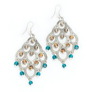 Silver and teal chandelier earrings india body decor pinterest silver and teal chandelier earrings india mozeypictures Image collections