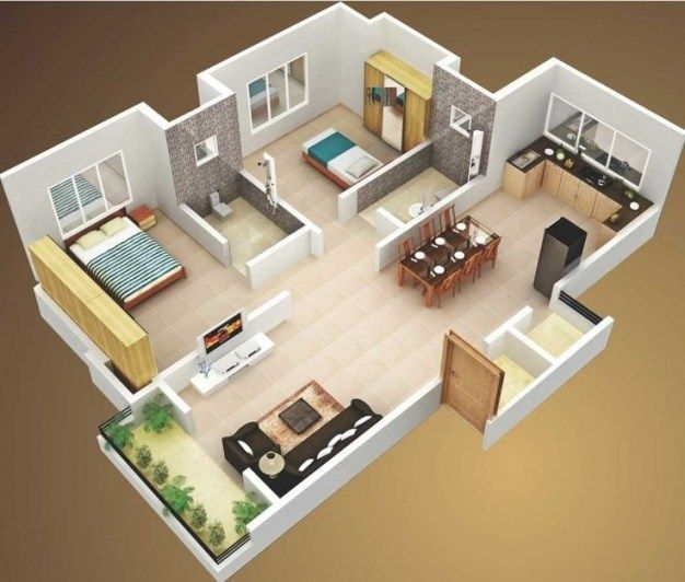 Top 10 Interior Design Of Two Bedroom House Plan Top 10 Interior Design Of Two Bedroom House Plan 3d House Plans Simple House Design Home Design Floor Plans