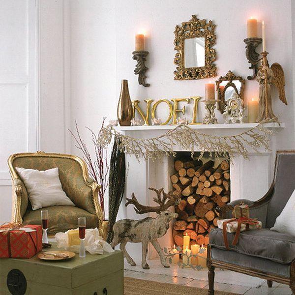 Christmas Fireplace Mantel Ideas Christmas Fireplace Mantel - christmas fireplace decor