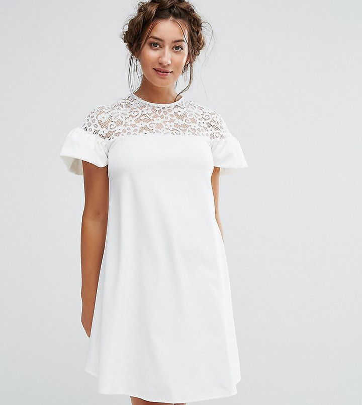3c5f7961387 Queen Bee Maternity Lace Ruffle Sleeve Smock Dress  afflink ...