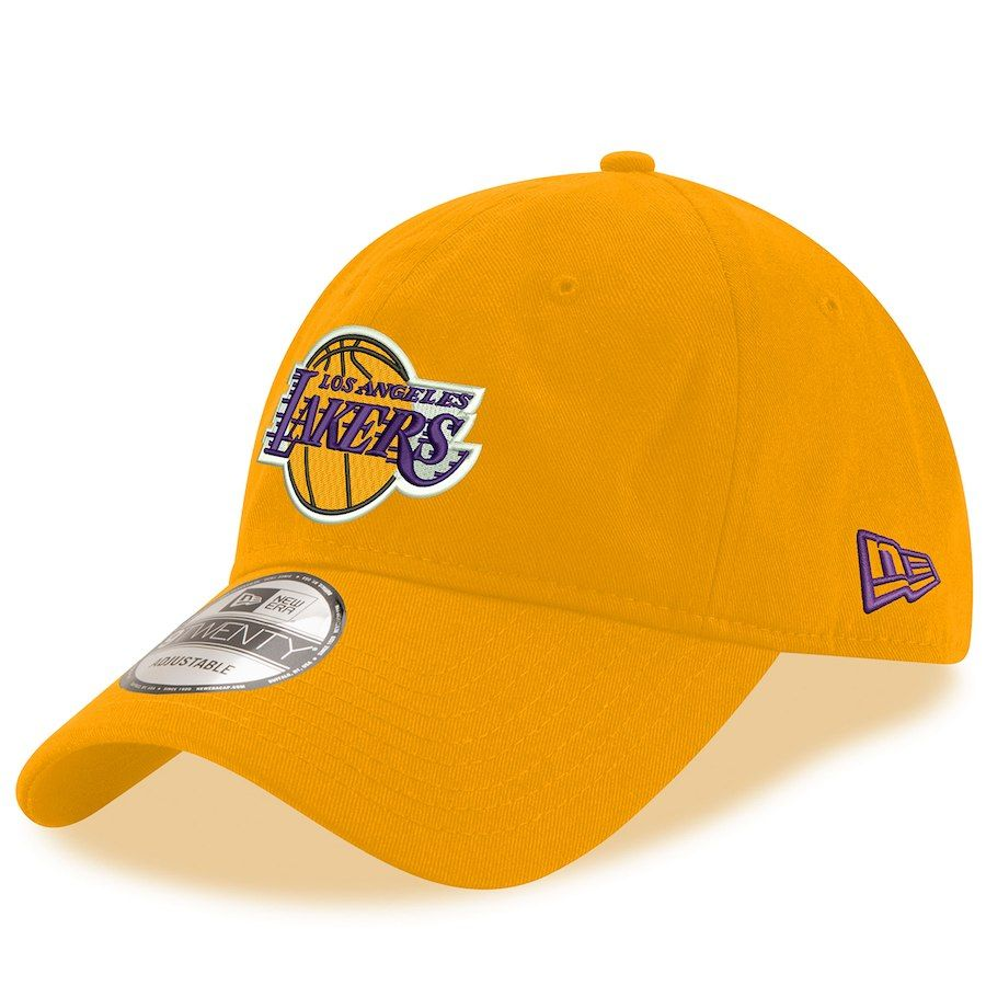 Men s Los Angeles Lakers New Era Gold 9TWENTY Adjustable Hat 08d11ac9550