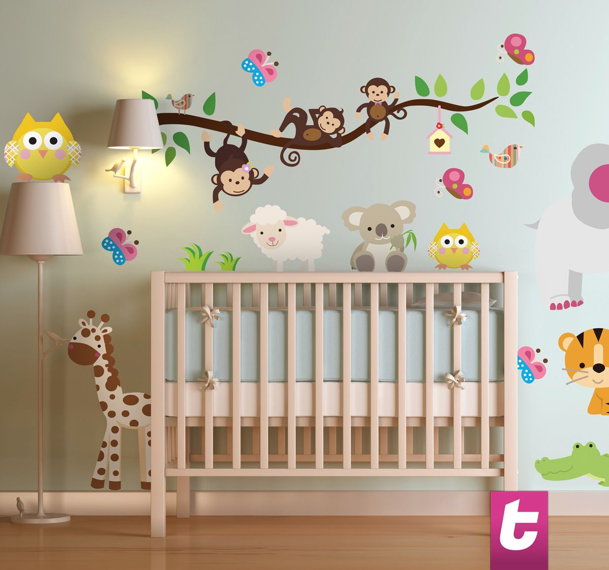 Is your kid in love with the nature and jungle animals for Dibujos para decorar tu habitacion
