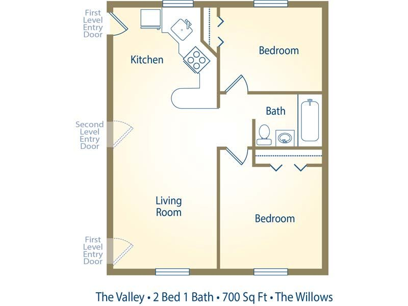Two Bedroom One Bath Apartment Floor Plans Google Search