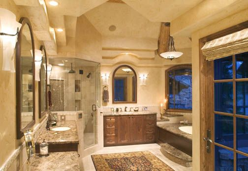 Modern log home bathroom Ideas for my future home Pinterest