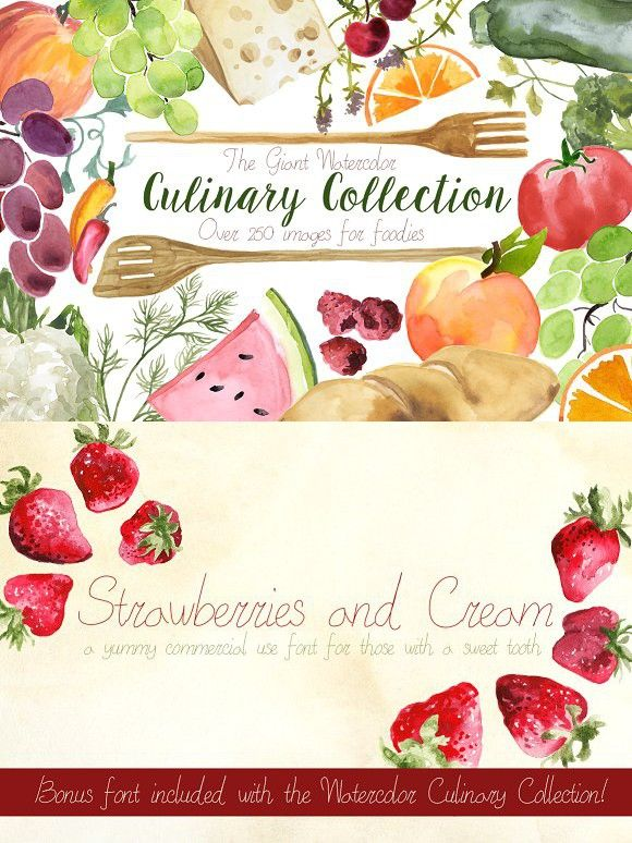 The Giant Culinary Collection. Wedding Fonts. $30.00