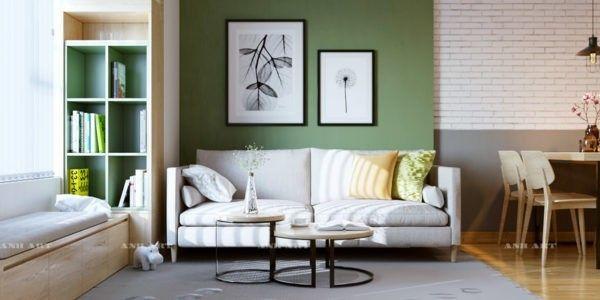 Moderne Wohnzimmer Farben Trendge Einrichtungsideen In Grun Und