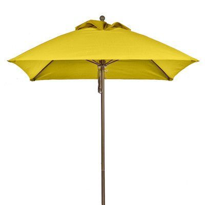 Frankford Umbrellas 6.5' Square Market Umbrella Pole Type: Bronze Coated Aluminum Pole, Fabric: Yellow