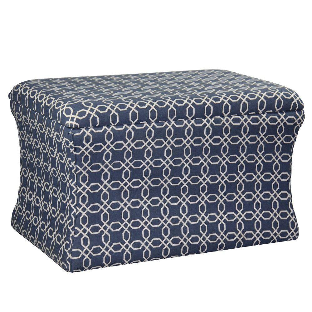 Excellent Lattice Pouf Storage Ottoman Light Blue Ore International Unemploymentrelief Wooden Chair Designs For Living Room Unemploymentrelieforg