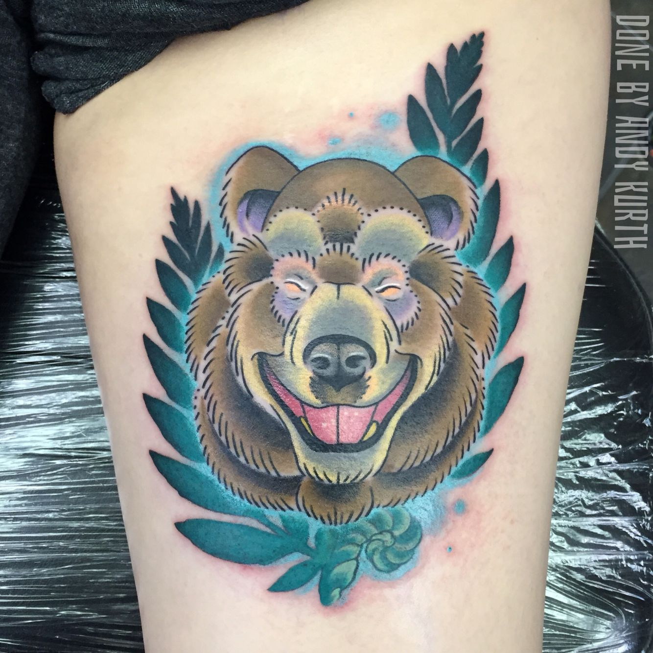 Electric chair tattoo - Happy Bear Done By Andy Kurth At Electric Chair Tattoo In Clio Michigan